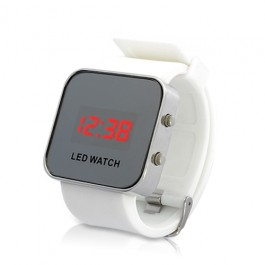 LED Mirror Watch
